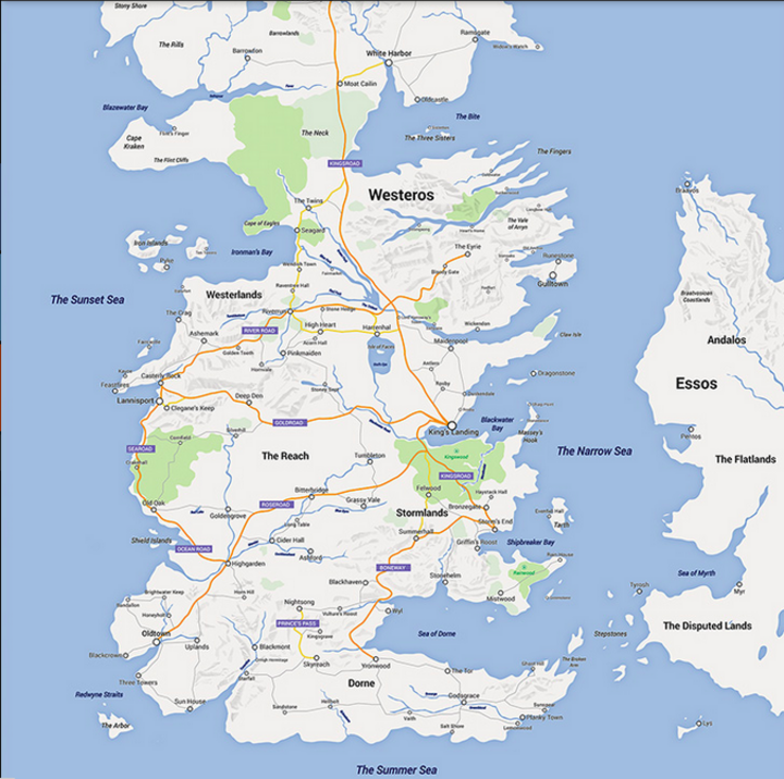 """Game of Thrones"" als Google-Maps-Karte"