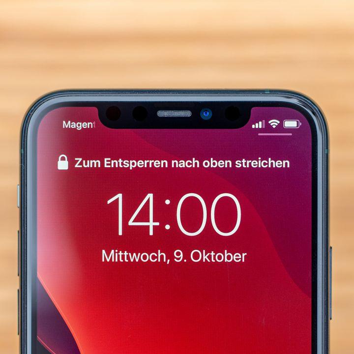 """FaceID, mit dem das Gerät per einfachem Blick aufs Display entsperrt werden kann, funktioniert beim """"iPhone 11 Pro"""" ohne Einschränkungen."""