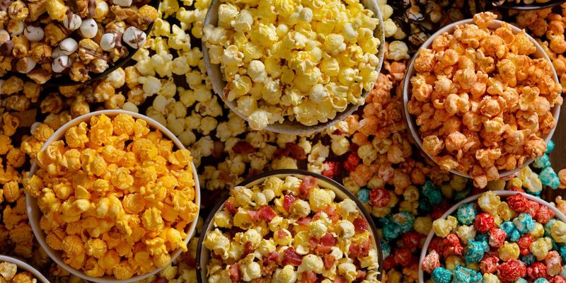 Selbstgemachtes Popcorn für den nächsten Filmabend.