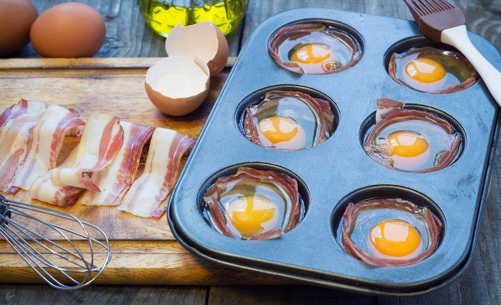 """""""Muffin Eggs"""" im Backofen zubereiten."""