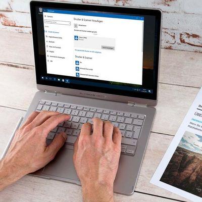 Windows 10: Drucker hinzufügen.