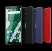 """Das """"Nokia 1 Plus"""" ist ein 5,45-Zoll-Einsteiger-Smartphone mit 8-MP-Hauptkamera und 5-MP-Selfiekamera."""