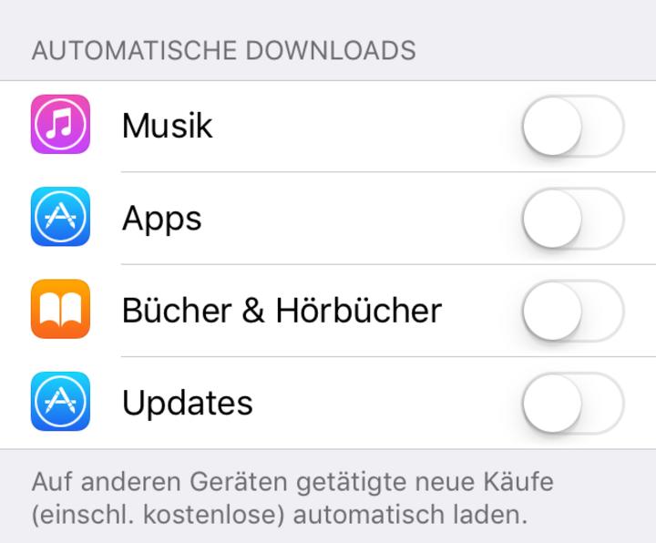 Automatische App-Updates deaktivieren
