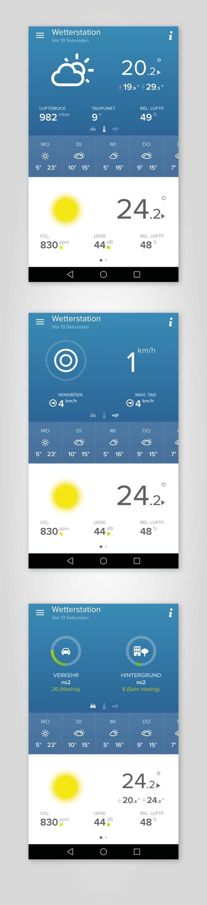 Die detailreichen und umfassenden Informationen der verschiedenen Komponenten lassen sich intuitiv und übersichtlich in der App auswerten.
