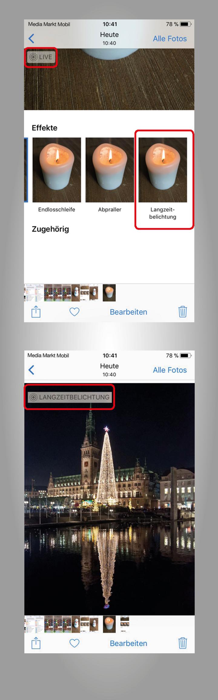 Die neue Kamera-App unter iOS 11 unterstützt nun auch Langzeitbelichtung.