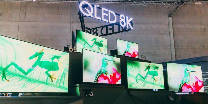 Die QLED-8K-TVs von Samsung.