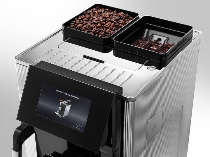 """Die beiden Mahlwerke des Kaffeevollautomaten """"Maestosa"""" von De'Longhi."""