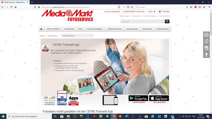Die CEWE Fotowelt App ist für Android und iOS verfügbar.