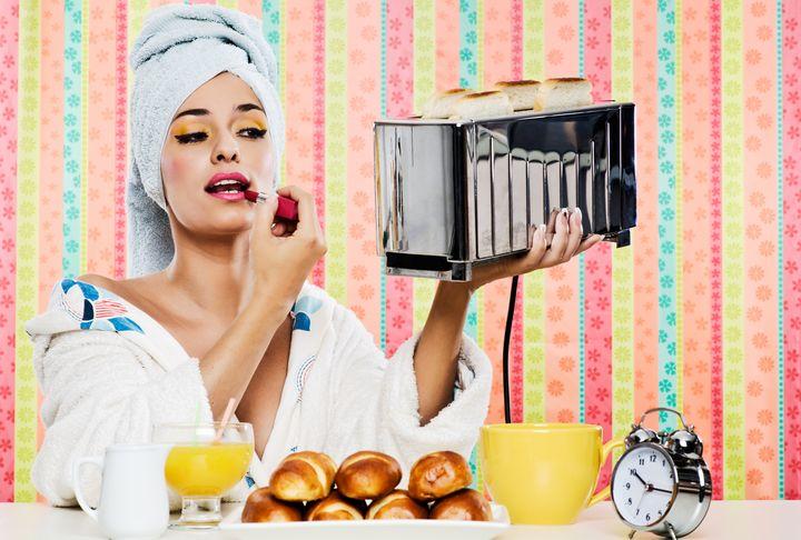 Toaster ist blitzblank.