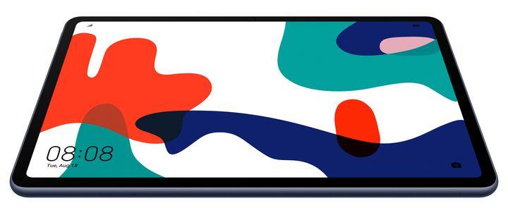 Das Tablet verfügt über ein minimalistisches Design.