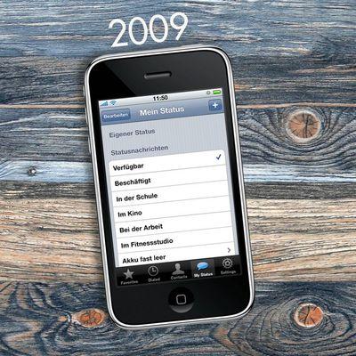 """""""WhatsApp"""": Die App damals und heute."""
