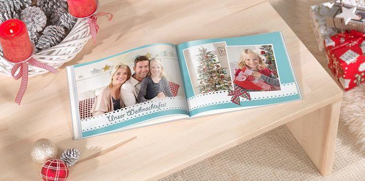 Weihnachtsgeschenk CEWE Fotobuch.