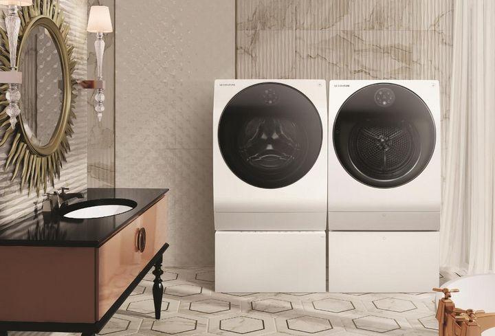"""Frei von Flusen: Der """"LG SIGNATURE""""-Wäschetrockner ist mit Kondensator-Selbstreinigungssystem ausgestattet."""