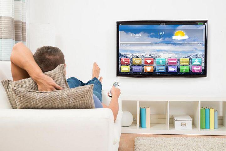 Apps auf einem Smart-TV auswählen.