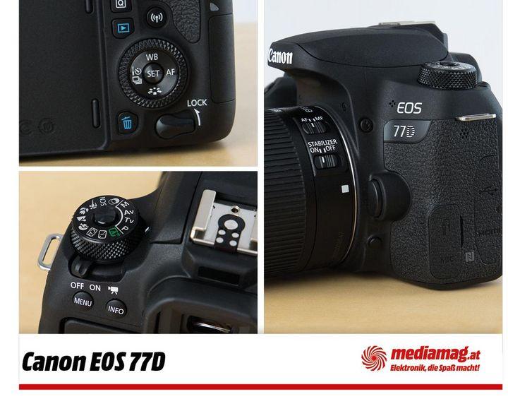 Das kann die neue Canon 77D Spiegelreflexkamera.