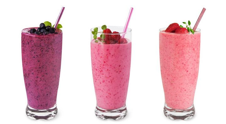 Pink Smoothies.