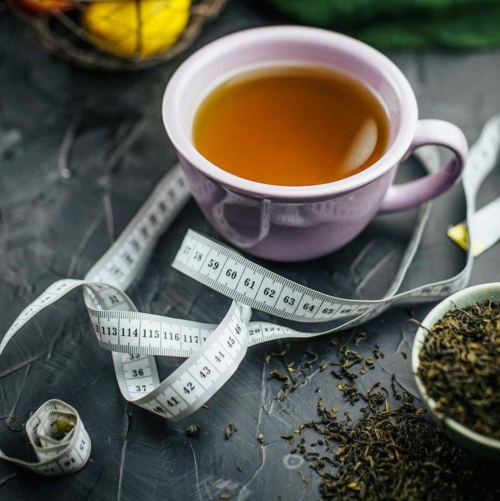 Fasten mit Tee.