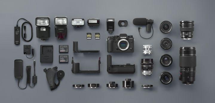 """Produktrange von Fujifilm für die """"X-T2""""."""