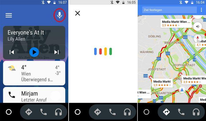 Android Auto lässt sich auch mit der Stimme steuern.