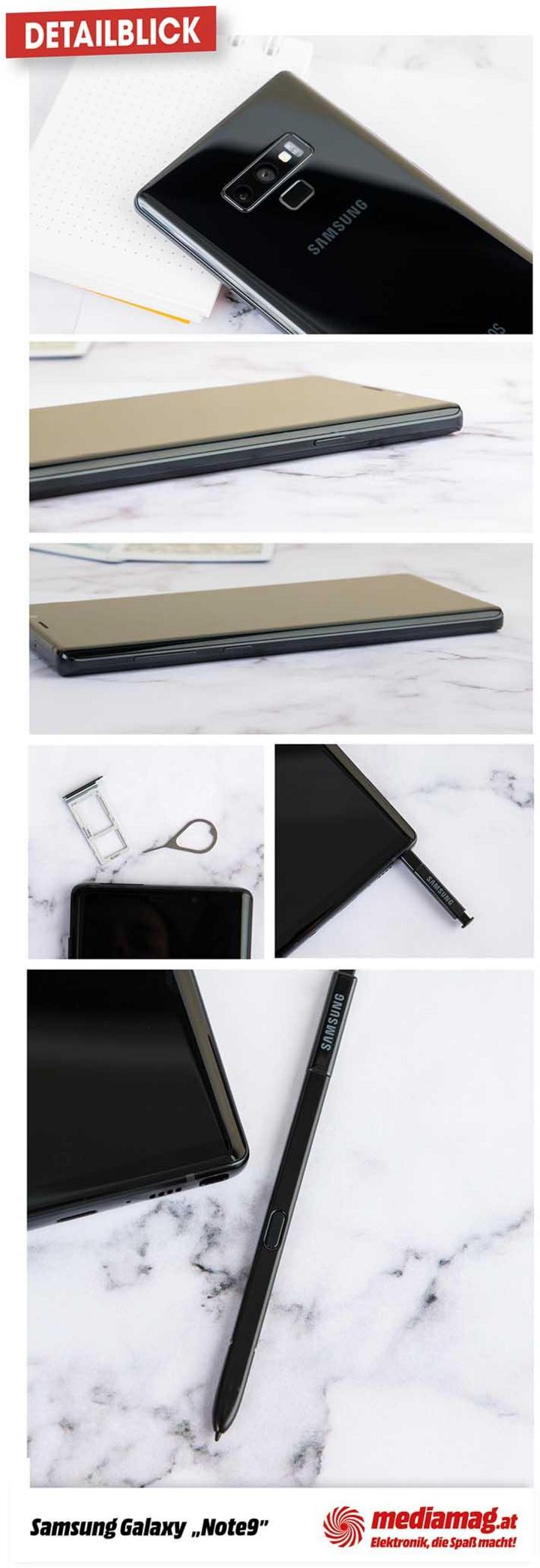 Die coolen Details des Galaxy Note9.