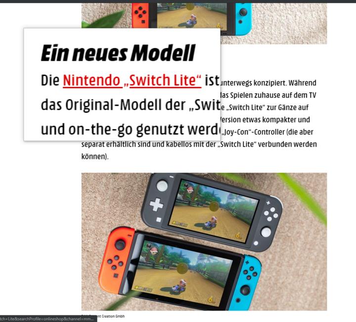 Die Bildschirmlupe vergrößert Ausschnitte des Screens.
