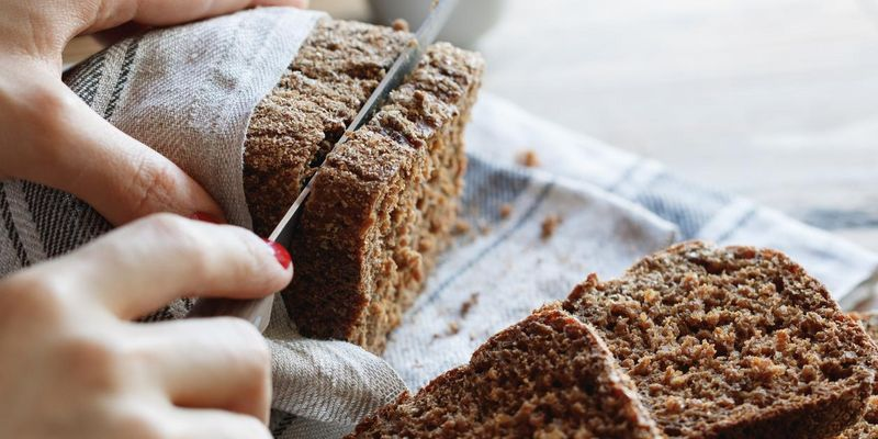 Selbstgebackenes Brot aus dem Brotbackautomaten.