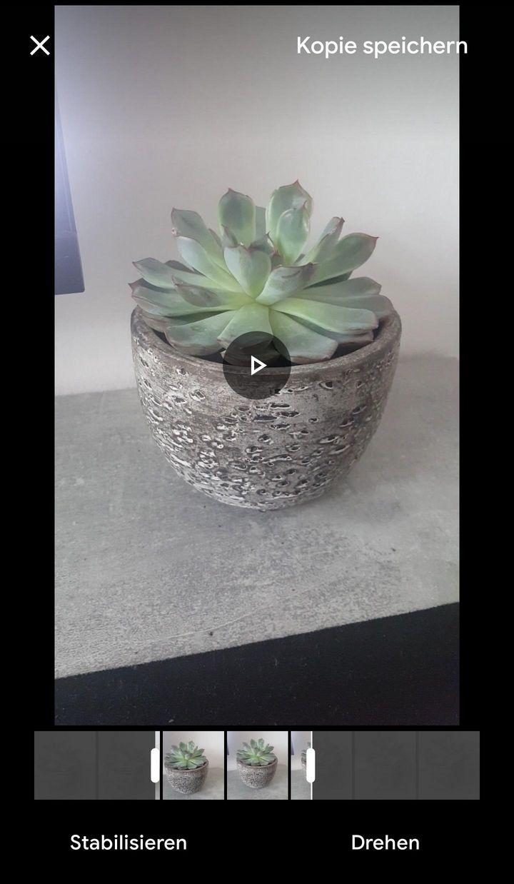 Die Balken am unteren Ende zeigen Anfang und Ende des Videos an.