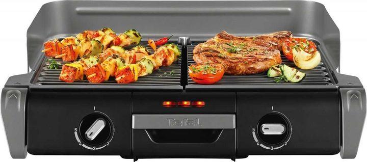 """""""Tefal TG 8000 BBQ Family"""": Gleichzeitiges Warmhalten und Grillen oder Grillen mit verschiedenen Temperaturen ist möglich."""