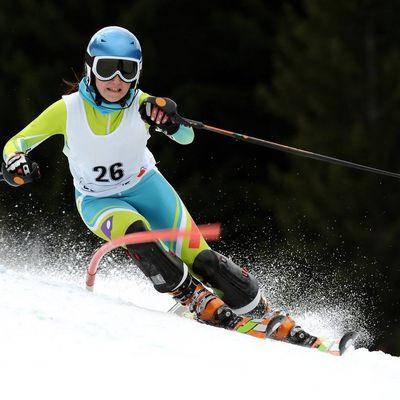 Slalom Läuferin Crans Montana