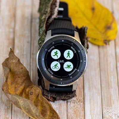 """Ein Detailblick auf die Samsung """"Galaxy Watch""""."""