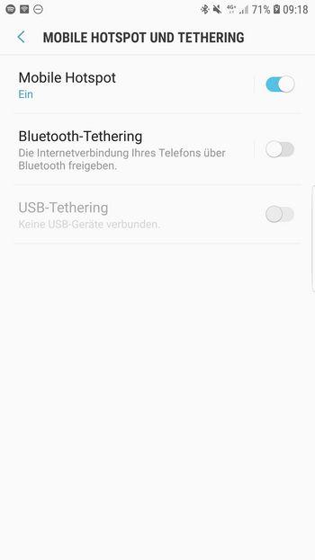 WLAN-Hotspot einrichten Android