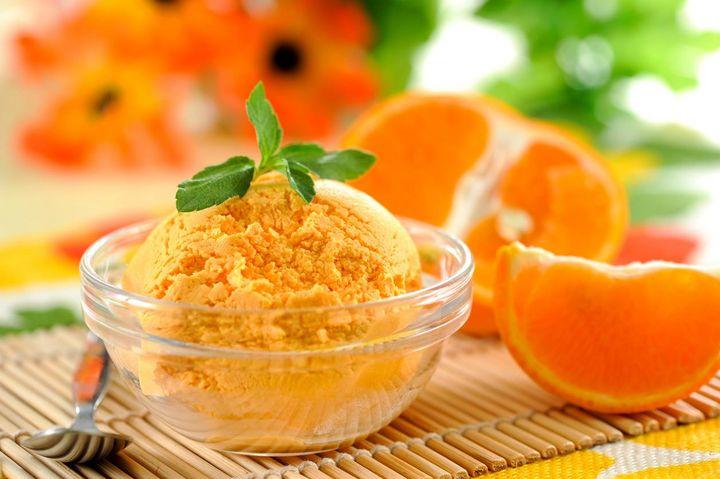 Die Kombination aus Karotte mit Orange führt zu verführerisch süßem Eis.