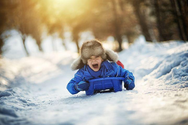 Sportliche Action im Winter auf Bild zu bannen, ist nicht weiter schwer.