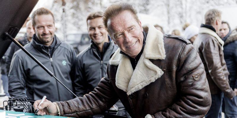 Von Arnold Schwarzenegger gelobtes E-Auto bei den E-Mobility Play Days 2017 in Spielberg.