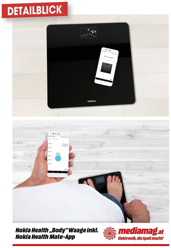 Mit Nokias smarter Waage zum Idealgewicht.
