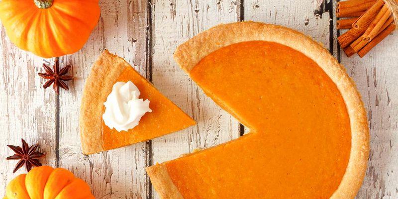 Pumpkin Pie wird mit Hokkaido-Kürbis gemacht.