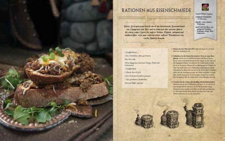 Seiten aus dem World of Warcraft Kochbuch
