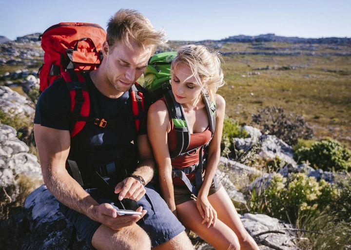 Wander mit Handy