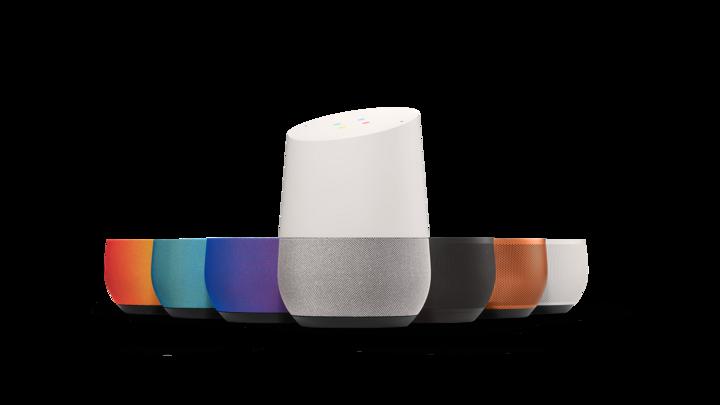 """Google Home wird mit """"Okay Google"""" gestartet."""