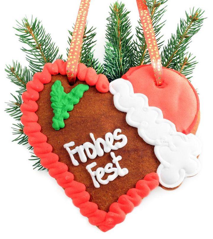 Lebkuchenherz für Weihnachten