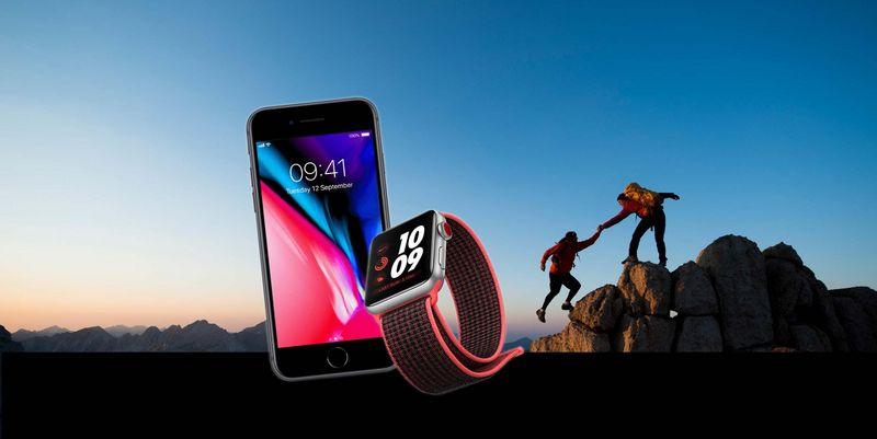 Beste Freunde: Apple Watch 3 und iPhone 8.