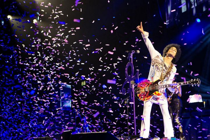 Prince bei einem Live-Auftritt