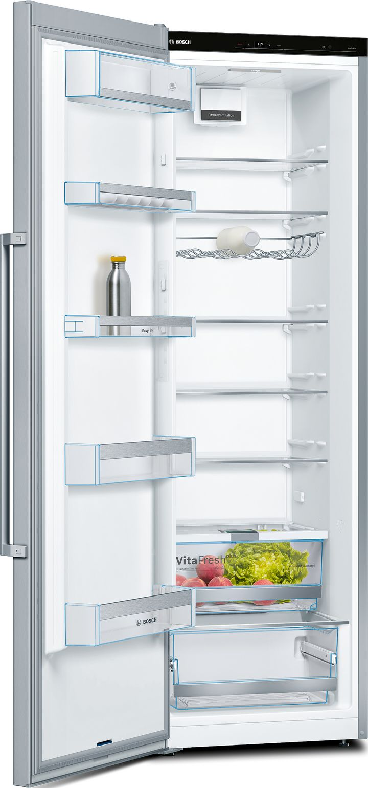 Bosch sorgt mit der VitaFresh-Lade für die optimale Feuchtigkeit, um Obst und Gemüse lange zu lagern.