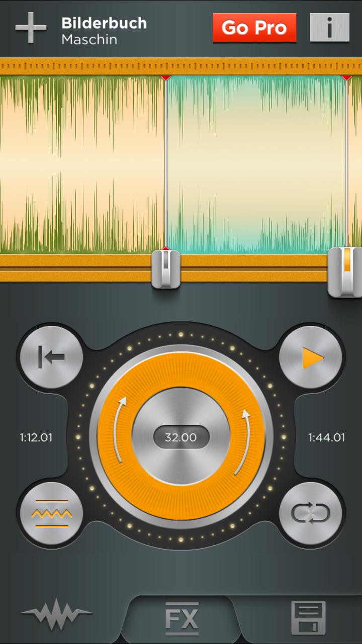 "Screenshot der App ""Ringtonium Lite"""