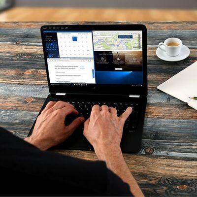 Windows 10: Arbeitsfenster anpassen.