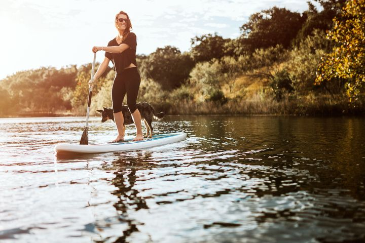 Stand-up-Paddling.