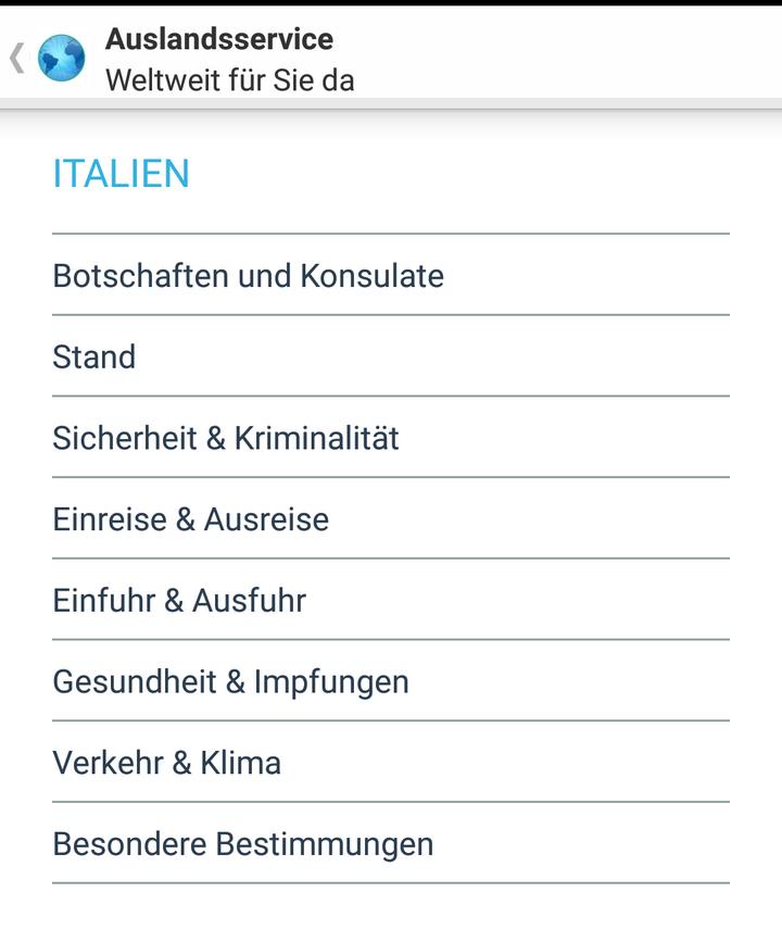 """Die Sicherheits-App für den Urlaub """"Auslandsservice""""."""