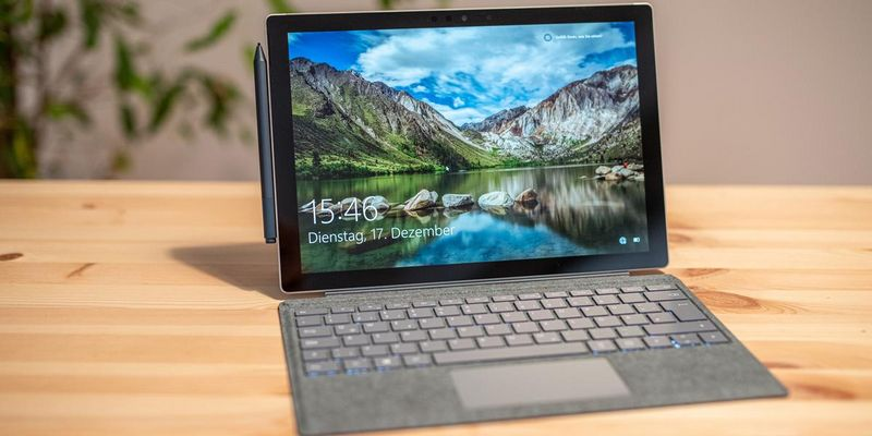 "Das Microsoft ""Surface Pro 7""."