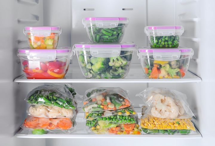 Gemüse im Tiefkühlfach