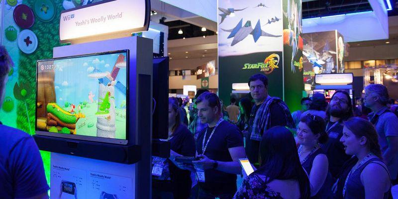 Schlange stehen bei Nintendo auf der Spiele-Messe E3.